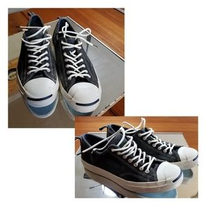 Converse, Jack Purcell black suede sneakers, shoes